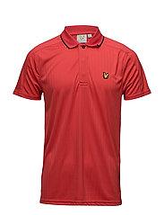 Banks drop needle polo shirt - PAVILION RED