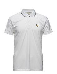 Banks drop needle polo shirt - WHITE