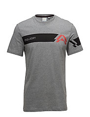 Mason SS Graphic T-shirt - MID GREY MARL