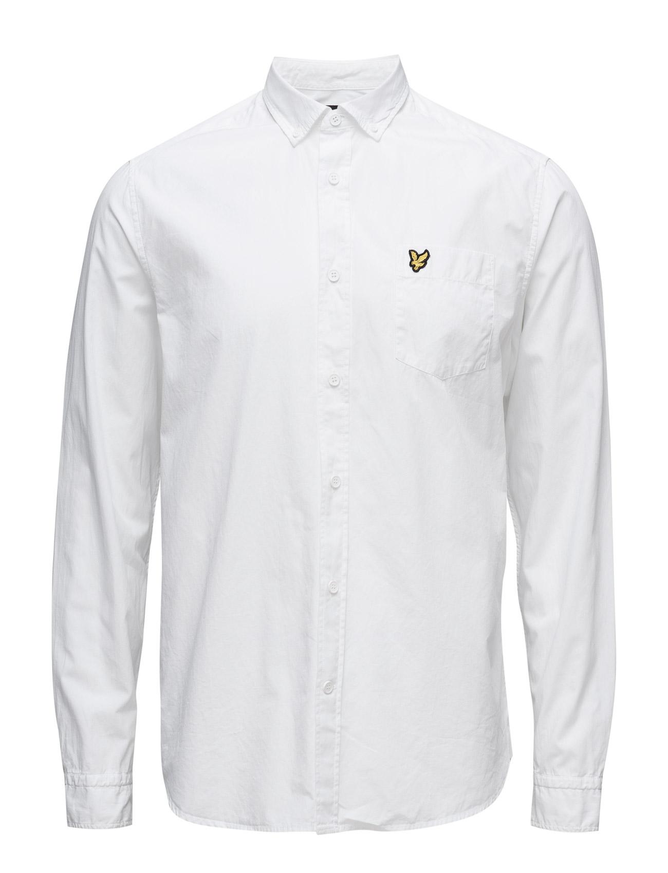 Garment Dye Shirt Lyle & Scott Casual sko til Herrer i hvid