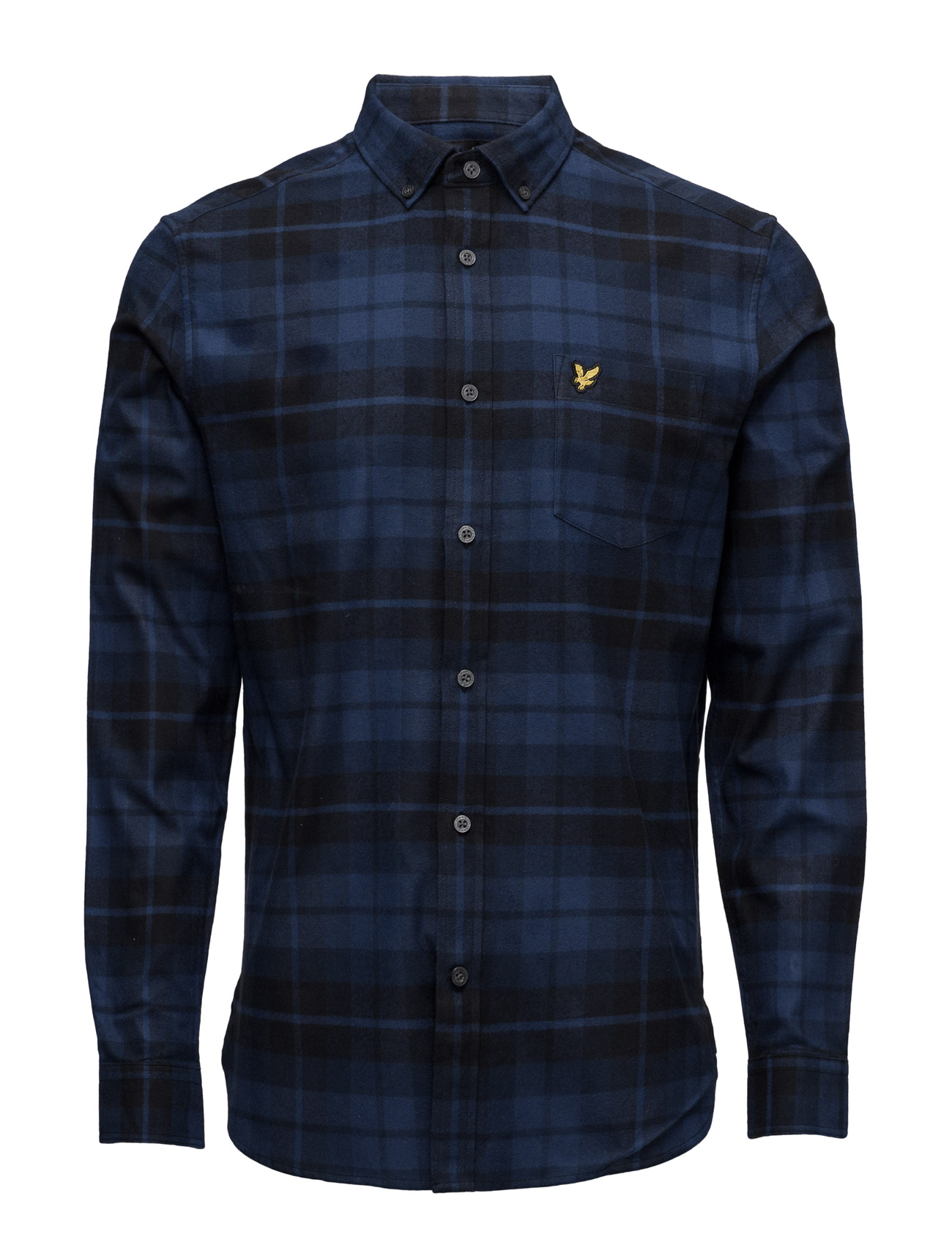 Check Flannel Shirt Lyle & Scott Casual sko til Herrer i Navy blå
