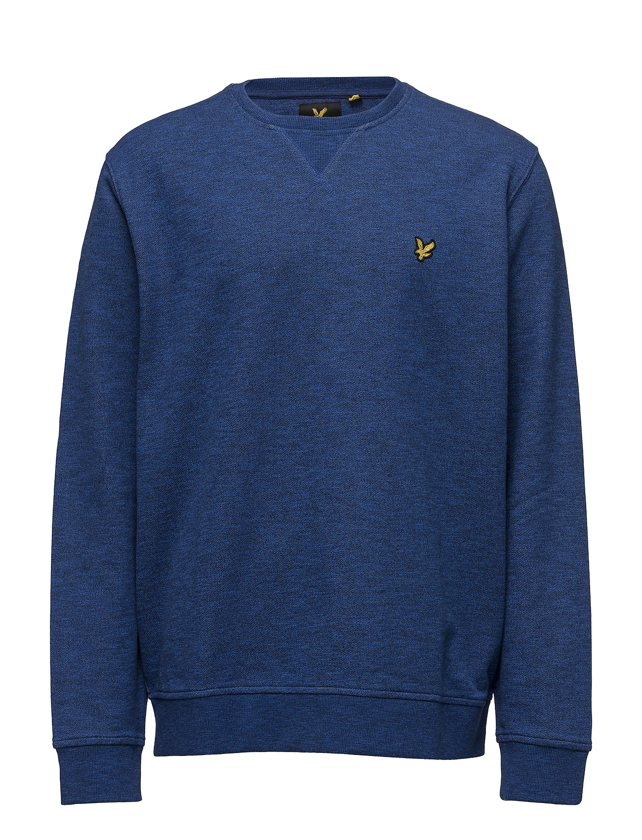 Crew Neck Mouline Sweat Shirt Lyle & Scott Striktrøjer til Mænd i Navy blå