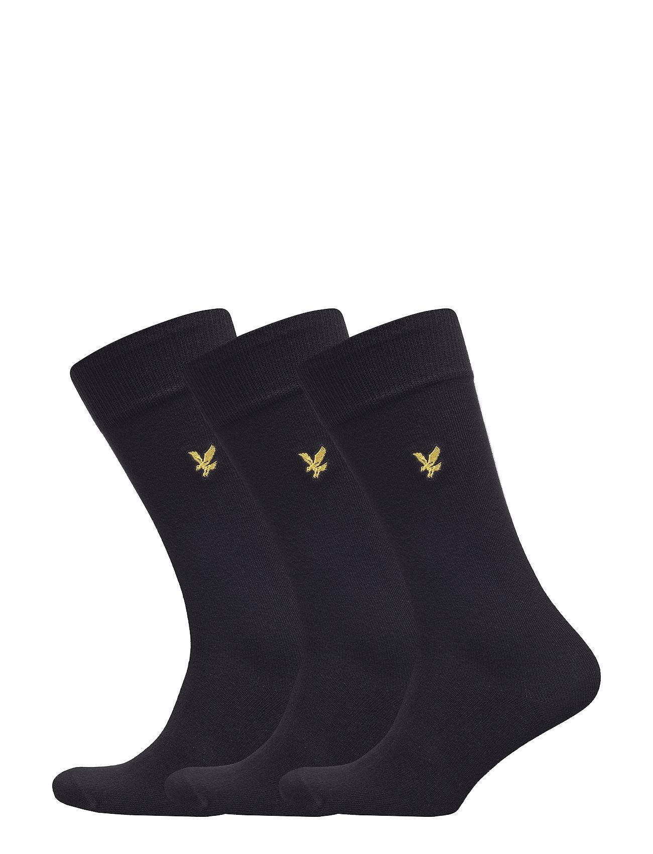 3 Pack Socks In Black Lyle & Scott Sokker til Herrer i