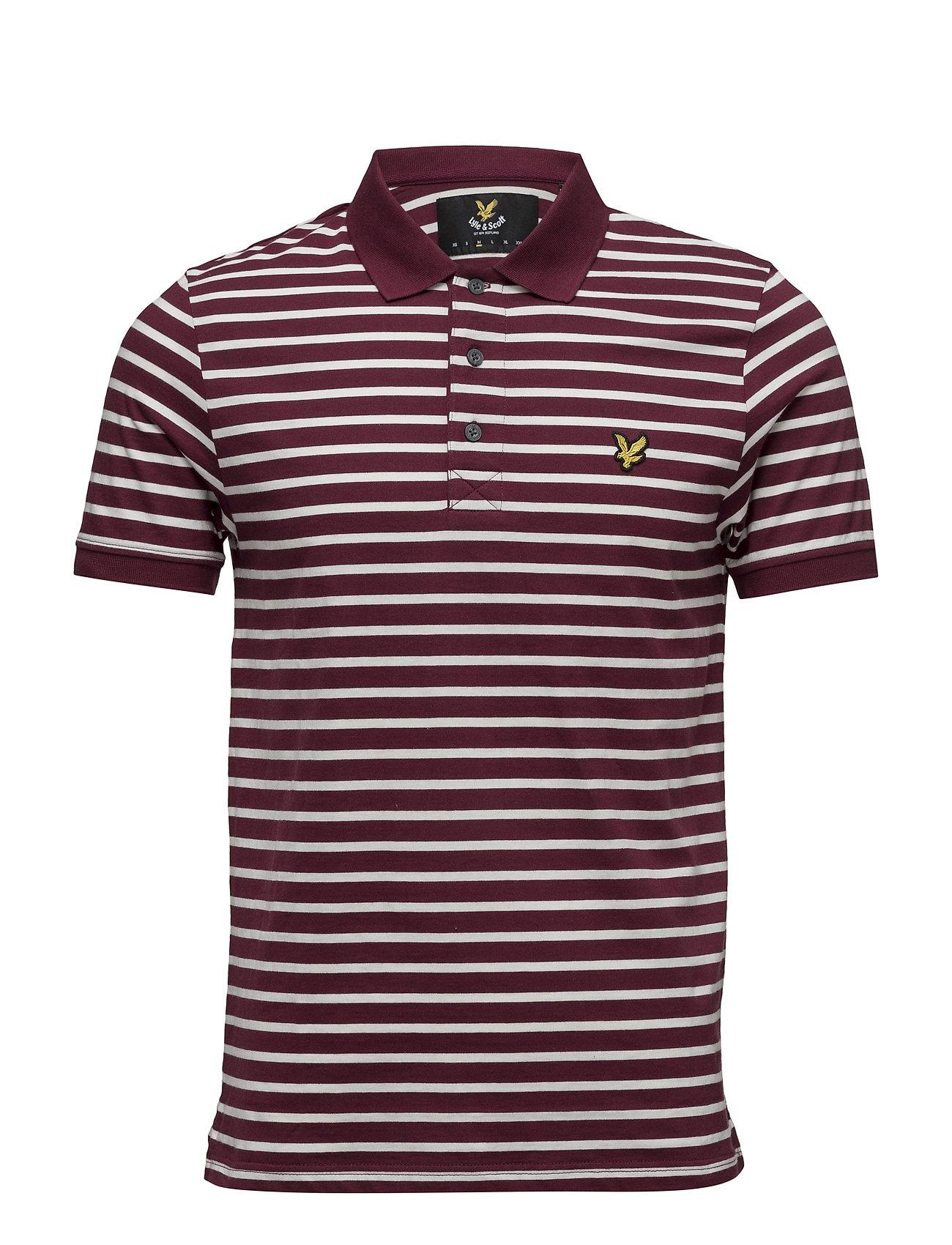 Breton Stripe Polo Shirt Lyle & Scott Kortærmede polo t-shirts til Herrer i