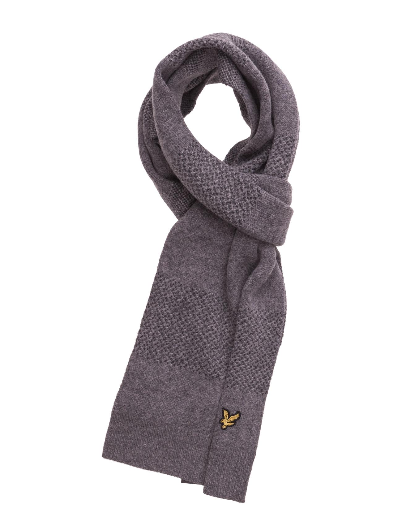Birdseye Knitted Scarf Lyle & Scott Halstørklæder til Mænd i Navy blå