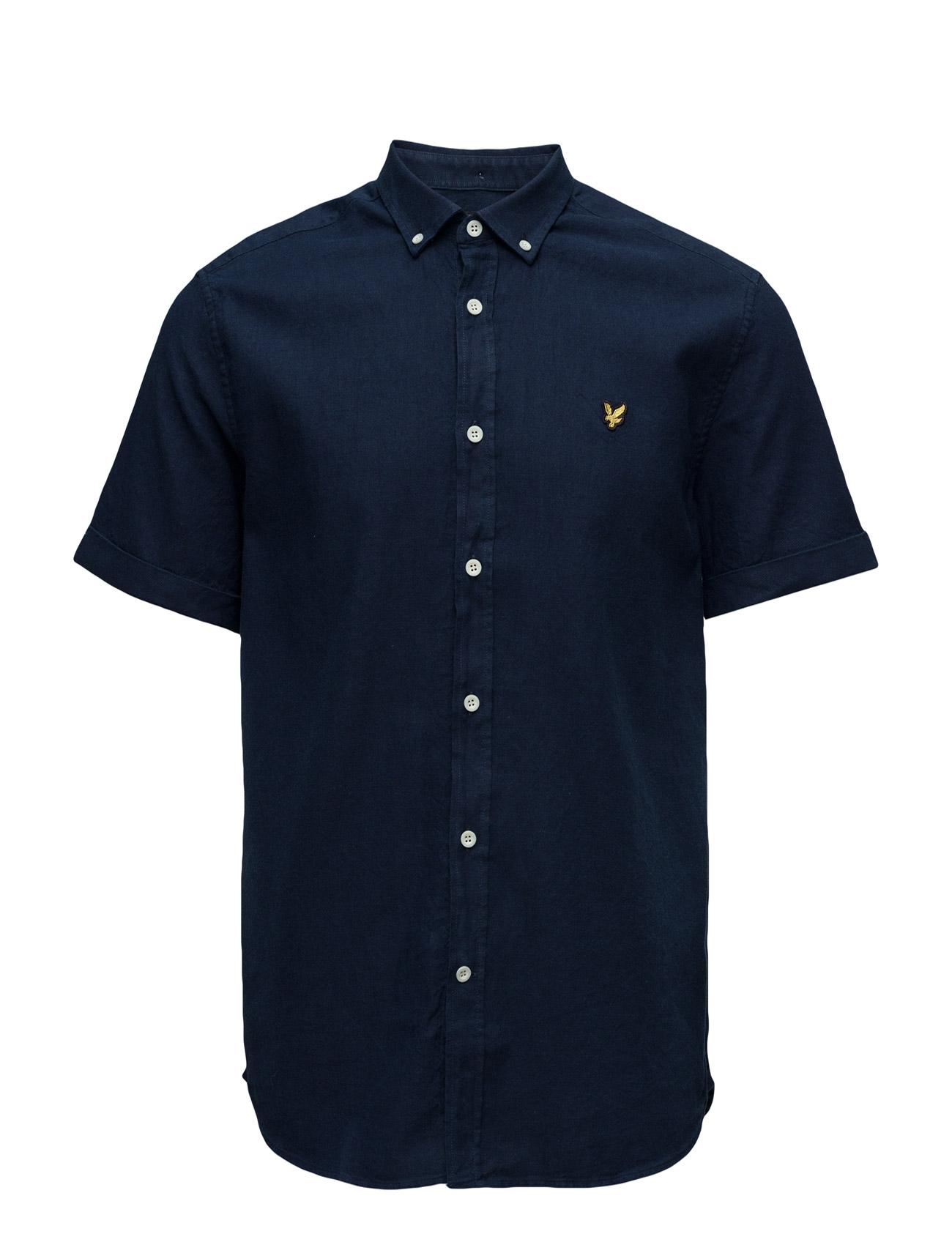 Ss Indigo Oxford Shirt Lyle & Scott Kortermet til  - MoteJakten