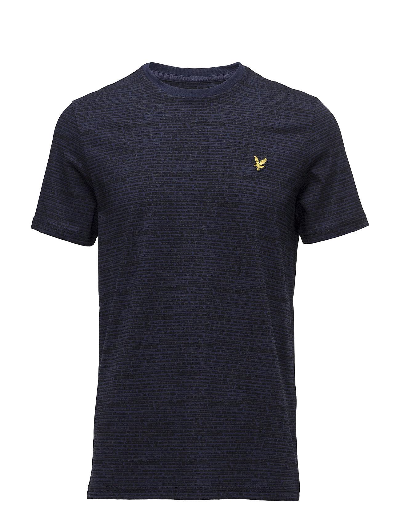 Micro Train Print T-Shirt Lyle & Scott Kortærmede til Herrer i Navy blå