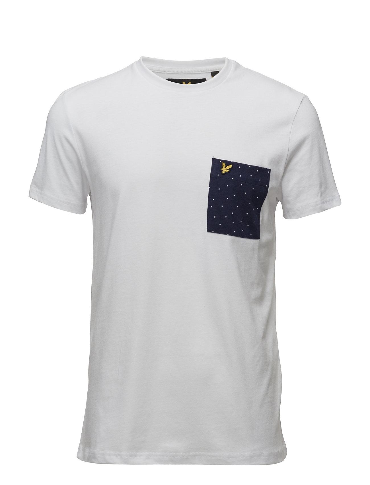 Mini Square Dot Pocket T-Shirt Lyle & Scott T-shirts til Mænd i hvid