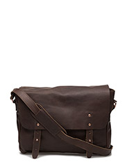 Leather Messenger - DARK BROWN