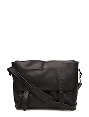 Leather Messenger - TRUE BLACK