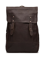 Leather Backpack - DARK BROWN