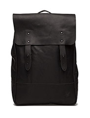 Leather Backpack - TRUE BLACK