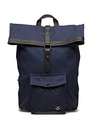 Roll Top Backpack - NAVY