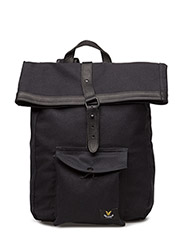 Roll Top Backpack - TRUE BLACK