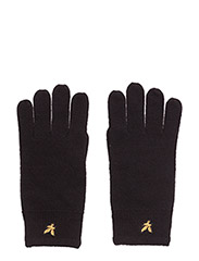 Racked rib gloves - TRUE BLACK