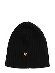Knitted Ribbed Beanie - NEW NAVY