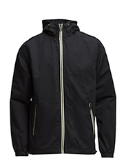 Twill zip through hooded jacket - New Navy