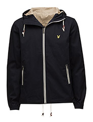 Hooded twill jacket - NEW NAVY