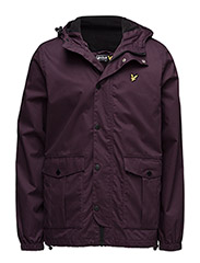 Microfleece lined jacket - DEEP PLUM