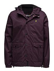 Microfleece lined jacket - DEEP PLUM