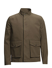 Shearling lined jacket - CEDAR GREEN