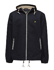 Hooded twill jacket - NAVY JACKET
