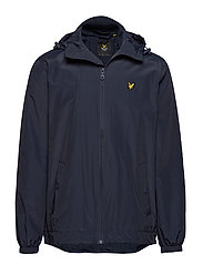 Zip Through Hooded Jacket - NAVY JACKET