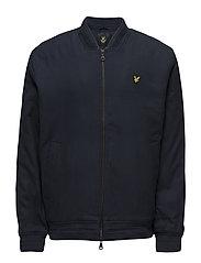 Brushed Cotton Bomber Jacket - NAVY JACKET