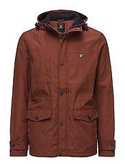 Microfleece lined jacket - BURNT REDWOOD