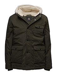 Shearling Lined Parka - DARK SAGE