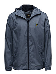 Zip Through Hooded Jacket - BLUE MARL