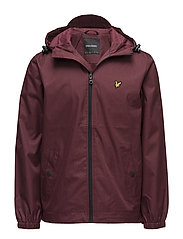Zip Through Hooded Jacket - CLARET MARL