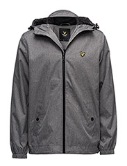 Zip Through Hooded Jacket - GREY MARL