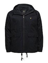 Cotton Zip Through Jacket - NAVY JACKET