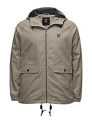 Cotton Zip Through Jacket - STONE