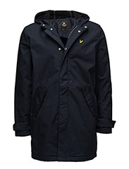 Zip Front Hooded Mac - NAVY JACKET