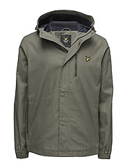 Hooded Curved Hem Jacket - DUSTY OLIVE