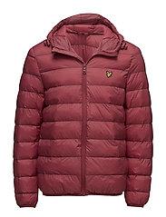 Lightweight Puffer Jacket - POMEGRANATE