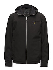 Hooded Softshell Jacket - TRUE BLACK