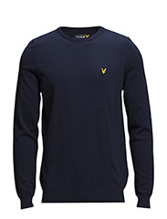 LS Crew neck cotton 12gg pullover - New Navy