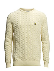 LS Crew neck cable jumper - Ivory