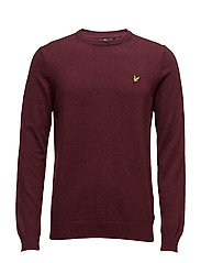 Crew Neck Cotton Merino 12gg Jumper - CLARET JUG