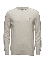 Crew Neck Cotton Merino 12gg Jumper - OFF WHITE MARL