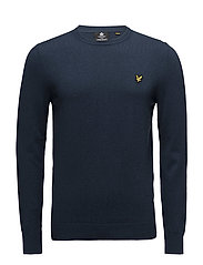 Cotton Merino Crew Jumper - PETROL