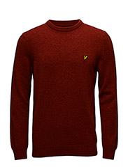 Crew Neck Lambswool 7GG Jumper - BURNT REDWOOD