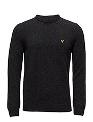Crew Neck Lambswool Jumper - CHARCOAL MARL