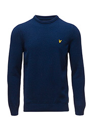 Crew Neck Lambswool Jumper - NAVY
