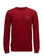 Crew Neck Lambswool Jumper - RUBY