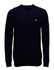 Crew Neck Lambswool Cable 5GG Jumper