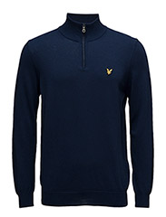 1/4 Zip Cotton Merino Jumper - NAVY